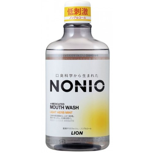 NONIO 구강청결제 무알콜 라이트 허브민트 (600ml)