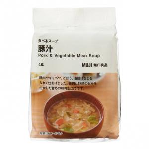 무인양품 돼지 장국 스프 1봉 (4팩)