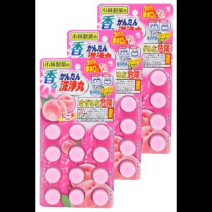 싱크대 화장실 배수구 세척 복숭아의 향기 12정 (3개 세트)