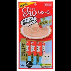 CAIO 챠오 고양이 츄르 가다랑어 4개입